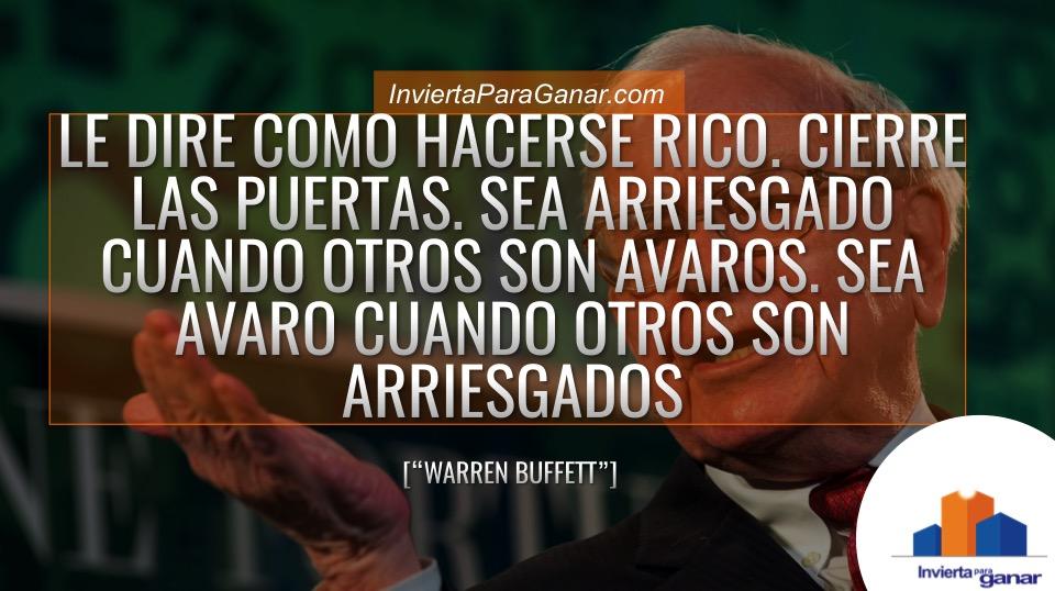 frases de hacerse rico - Warren Buffett - frases de dinero