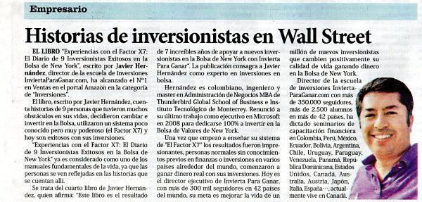 El Nuevo Siglo - Periodico - Publicacion Javier Hernandez - Invierta Para Ganar