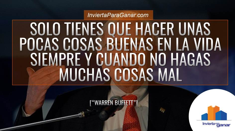 Frases Inversionista Warren Buffett